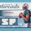 2008 SP Rookie Threads Rookie Threads 25 #RT-CH Chad Henne - Dolphins Dual Game-Used JSY /25