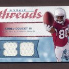 2008 SP Rookie Threads Rookie Numbers Gold #RT-ED Early Doucet Dual Game-Used Jerseys /80