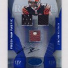2008 Leaf Certified Materials Mirror Blue Signatures #232 Jerome Simpson  AUTO, Game-Used /100