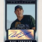 2007 Bowman Sterling Prospects #BSP-WT Wade Townsend RC - Tampa Bay Devil Rays AUTO