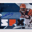 2008 SPx Football #165 Jerome Simpson RC - Bengals AUTO, Triple Game-Used Jerseys /599