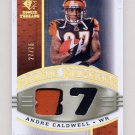 2008 SP Rookie Threads Rookie Numbers Holofoil Patch #RNAC Andre Caldwell Game-Used JSY /75