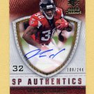 2008 SP Rookie Threads SP Authentics #SP-JW Jerious Norwood - Atlanta Falcons AUTO