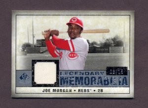 2008 SP Legendary Cuts Legendary Memorabilia #LM-JM Joe Morgan - Reds Game-Used Jersey /15