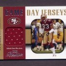 2003 Playoff Prestige Football Game Day Jerseys #GDJ33 J.J. Stokes - 49ers Game-Used Jersey Swatch