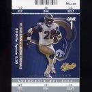 2004 Fleer Authentix Football #075 Marshall Faulk - St. Louis Rams