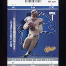 2004 Fleer Authentix Football #043 Joey Harrington - Detroit Lions