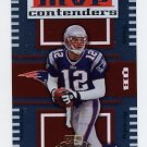 2004 Playoff Contenders MVP Contenders Orange #MC-14 Tom Brady - New England Patriots 187/500