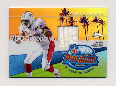 2004 Topps Chrome Pro Bowl Jerseys #PBPAO Adewale Ogunleye - Miami Dolphins Game-Used Jersey