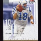 2004 Ultra Football Ultra Performers Gold Die Cuts #11UP Peyton Manning - Indianapolis Colts