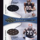 2001 Playoff Honors Rookie Tandem Jerseys #RT16 Justin Smith / Gerard Warren -  Game-Used Jersey