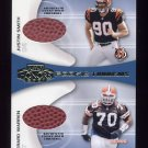 2001 Playoff Honors Rookie Tandem Footballs #RT16 Justin Smith / Gerard Warren -  Game-Used Football