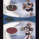 2001 Playoff Honors Rookie Tandem Footballs #RT06 Rudi Johnson / Chad Johnson -  Game-Used Footballs