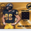 2001 Press Pass SE Game Jersey #JCJS Justin Smith - Bengals Game-Used Jersey 216/250
