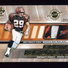 2001 Private Stock Game Worn Gear Patch #031 Curtis Keaton 3 Color Game-Used Jersey /350