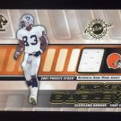 2001 Private Stock Game Worn Gear #036 Rickey Dudley - Cleveland Browns Game-Used Jersey