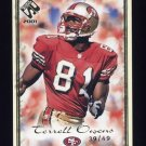 2001 Private Stock Football Gold Framed #086 Terrell Owens - San Francisco 49ers 39/49