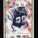 2001 Private Stock Football Gold Framed #067 Curtis Martin - New York Jets 02/49