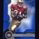 2001 Quantum Leaf Football #160 Terrell Owens - San Francisco 49ers
