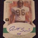 2001 SAGE Hit Autographs Foilboard Die Cuts #A49 Justin Smith RC - Cincinnati Bengals AUTO 31/100