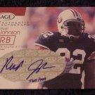 2001 Sage Autographs Red #A27 Rudi Johnson RC - Cincinnati Bengals AUTO 565/999