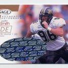 2001 Sage Autographs Bronze #A40 Justin Smith RC - Cincinnati Bengals AUTO /650