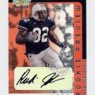 2001 Select Rookie Preview Autographs #RP43 Rudi Johnson RC - Cincinnati Bengals AUTO /350