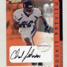 2001 Select Rookie Preview Autographs #RP12 Chad Johnson RC - Cincinnati Bengals AUTO /450