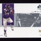2001 SP Authentic Football #050 Randy Moss - Minnesota Vikings