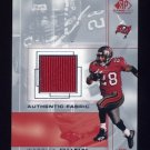 2001 SP Game Used Edition Authentic Fabric #WD Warrick Dunn - Tampa Bay Buccaneers Game-Used Jersey