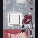 2001 SP Game Used Edition Authentic Fabric #BO David Boston - Arizona Cardinals Game-Used Jersey