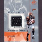 2001 SP Game Used Edition Football #108 Chad Johnson RC - Cincinnati Bengals Game-Used Jersey /500