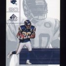 2001 SP Game Used Edition Football #075 Curtis Conway - San Diego Chargers