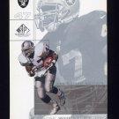 2001 SP Game Used Edition Football #066 Tyrone Wheatley - Oakland Raiders