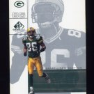 2001 SP Game Used Edition Football #036 Antonio Freeman - Green Bay Packers