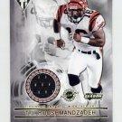 2001 Titanium Post Season Jerseys #028 T.J. Houshmandzadeh RC - Cincinnati Bengals Game-Used Jersey