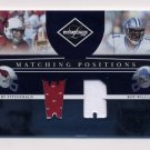 2008 Leaf Limited Matching Positions Jerseys #MP6 Larry Fitzgerald / Roy Williams Game-Used /100
