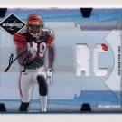 2008 Leaf Limited Football #320 Jerome Simpson RC - Bengals AUTO Game-Used /99
