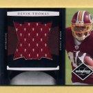 2008 Leaf Limited Rookie Jumbo Jerseys #09 Devin Thomas RC - Redskins Game-Used Jersey /50