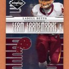 2008 Leaf Limited Team Trademarks Materials Team Logo #T32 Ladell Betts - Redskins Game-Used /50