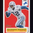 2001 Topps Heritage Football #105 Germane Crowell - Detroit Lions