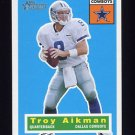 2001 Topps Heritage Football #077 Troy Aikman - Dallas Cowboys