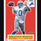 2001 Topps Heritage Football #037 Charlie Batch - Detroit Lions