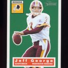2001 Topps Heritage Football #005 Jeff George - Washington Redskins