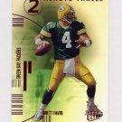 2001 Ultra Two Minute Thrill #9TT Brett Favre - Green Bay Packers