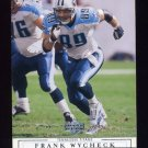 2001 Upper Deck Football #170 Frank Wycheck - Tennessee Titans