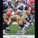 2001 Upper Deck Football #136 Kurt Warner - St. Louis Rams