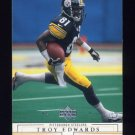 2001 Upper Deck Football #134 Troy Edwards - Pittsburgh Steelers