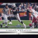 2001 Upper Deck Football #120 Tyrone Wheatley - Oakland Raiders