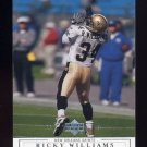 2001 Upper Deck Football #099 Ricky Williams - New Orleans Saints